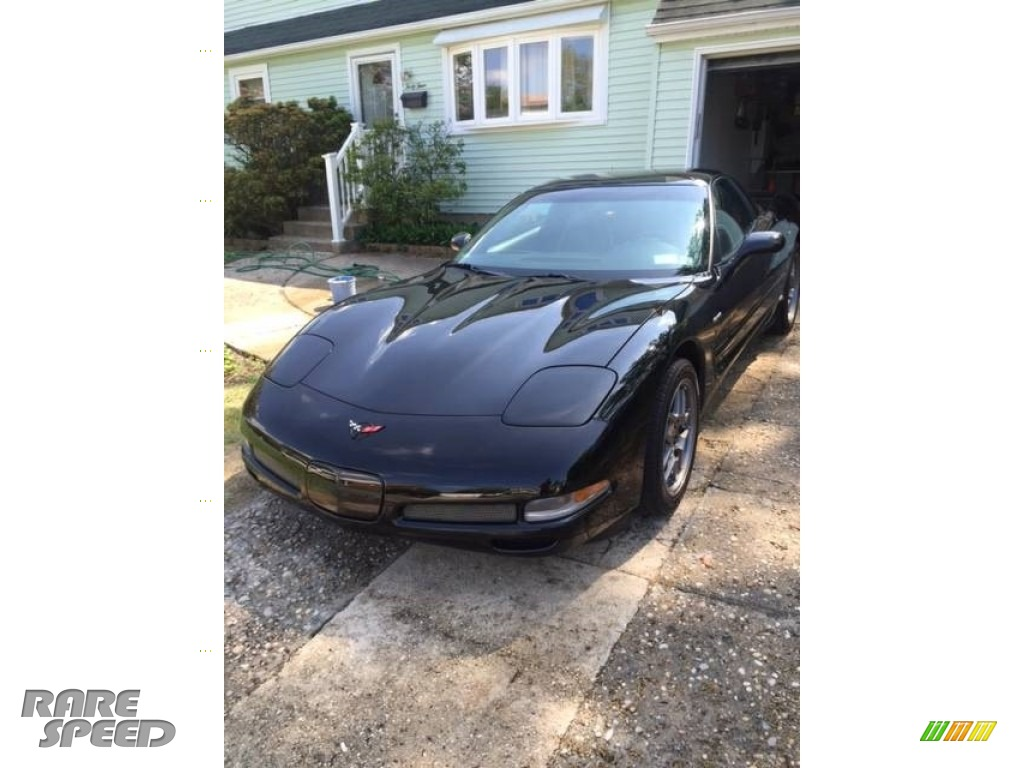 2001 Corvette Z06 - Black / Black photo #1