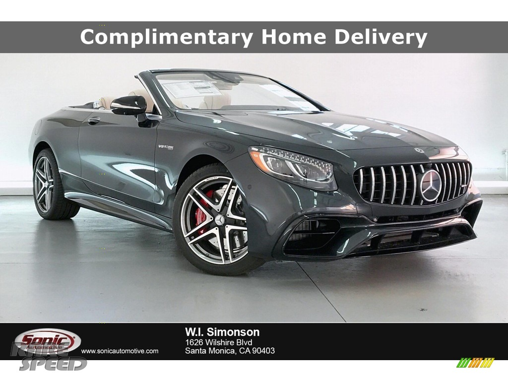 2020 S 63 AMG 4Matic Convertible - Magnetite Black Metallic / designo Porcelain/Espresso photo #1