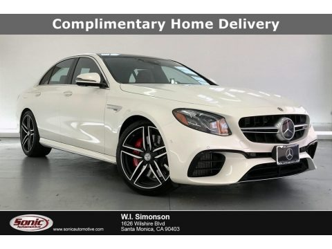 designo Diamond White Metallic 2019 Mercedes-Benz E AMG 63 S 4Matic Sedan