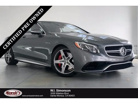 Selenite Grey Metallic 2017 Mercedes-Benz S 63 AMG 4Matic Cabriolet