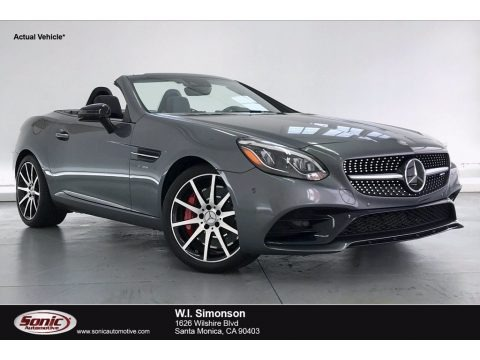 Selenite Grey Metallic 2017 Mercedes-Benz SLC 43 AMG Roadster