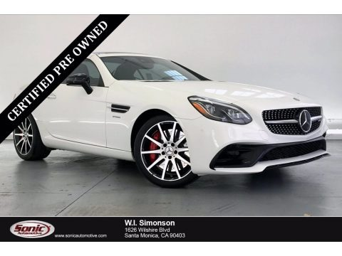 Polar White 2017 Mercedes-Benz SLC 43 AMG Roadster