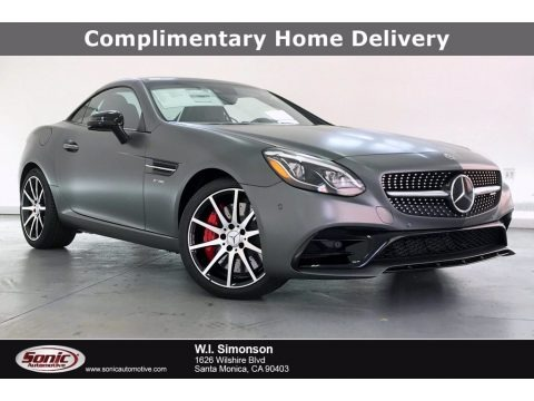 designo Shadow Gray Magno (Matte) 2020 Mercedes-Benz SLC 43 AMG Roadster
