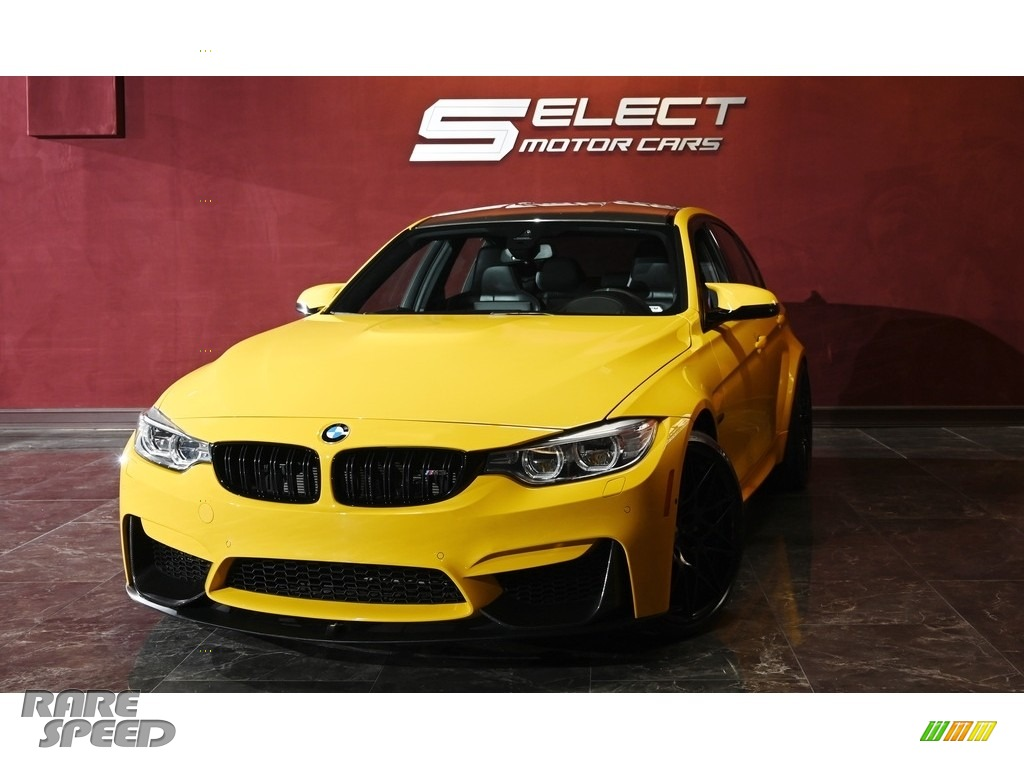 2017 M3 Sedan - Speed Yellow / Black photo #1