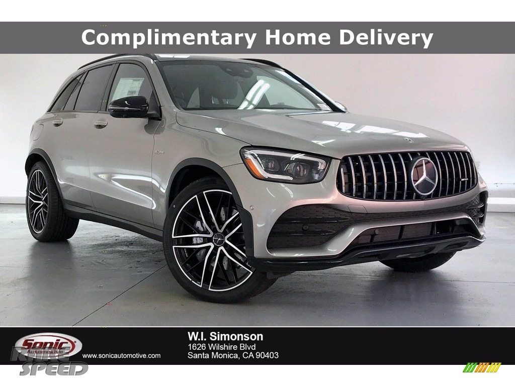 2020 GLC AMG 43 4Matic - Mojave Silver Metallic / Black photo #1