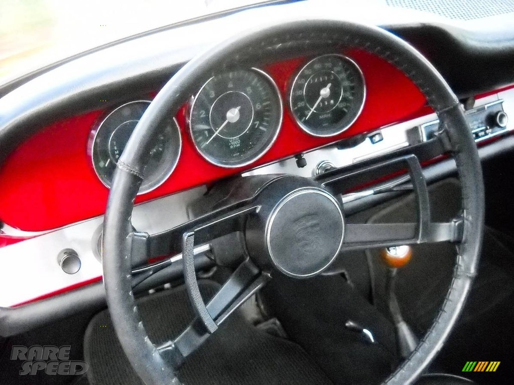 1966 912 Karmann Coupe - Polo Red / Black photo #7