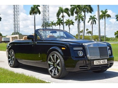 Diamond Black 2010 Rolls-Royce Phantom Mansory Drophead Coupe