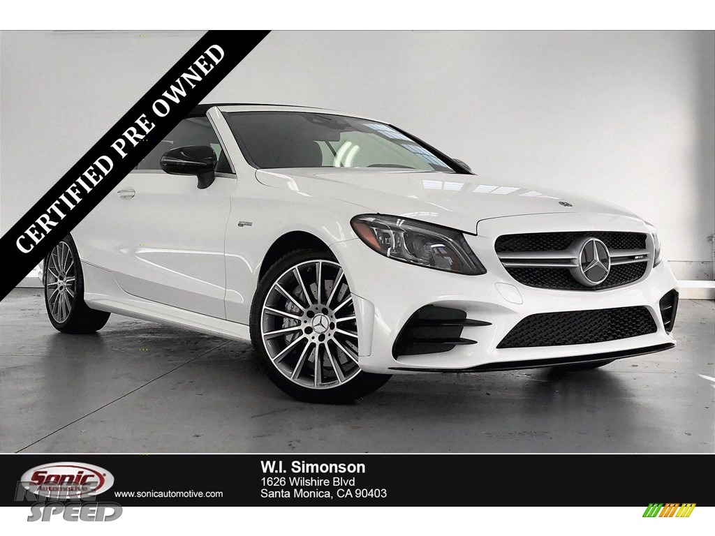 2019 C 43 AMG 4Matic Cabriolet - designo Diamond White Metallic / Black photo #1