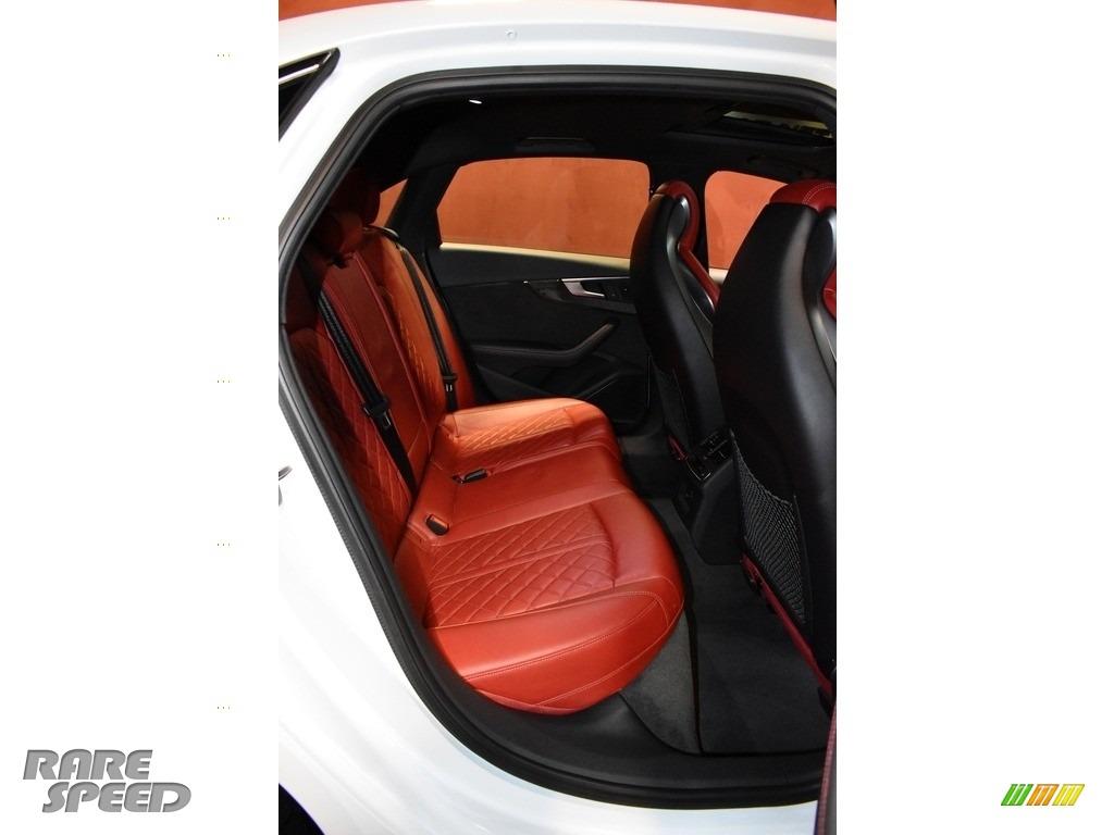 2018 S4 Premium Plus quattro Sedan - Glacier White Metallic / Magma Red photo #13
