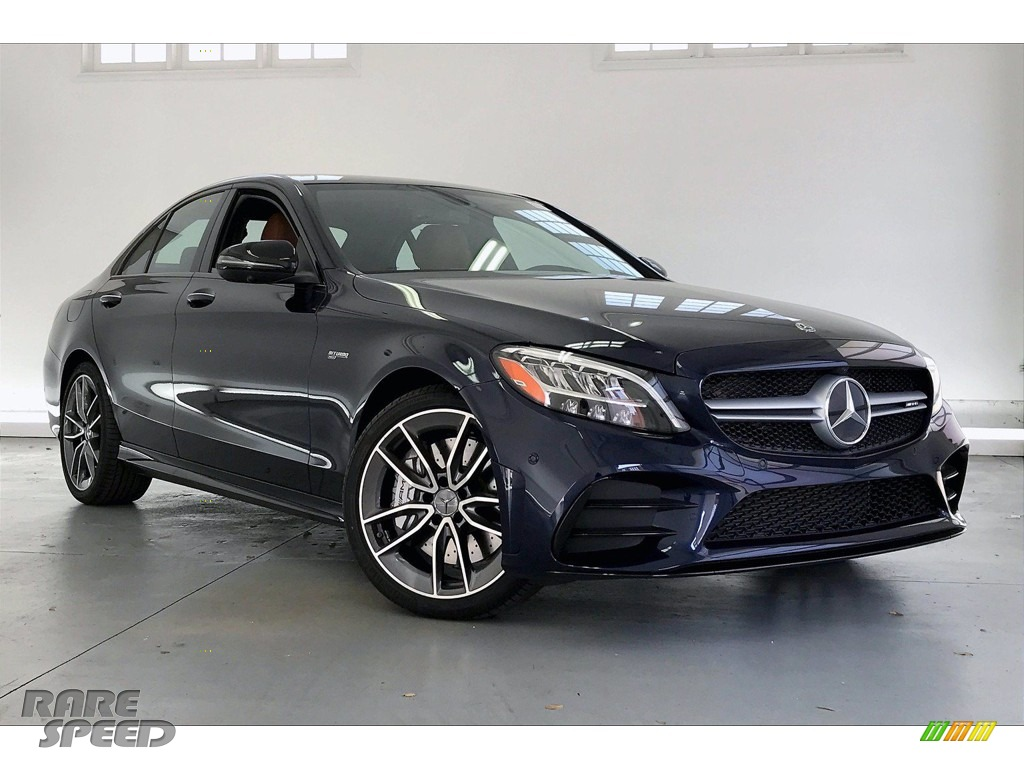 2020 C AMG 43 4Matic Sedan - Lunar Blue Metallic / Saddle Brown/Black photo #12