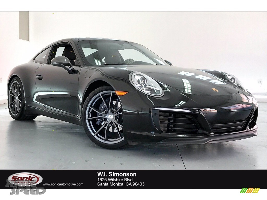 2018 911 Carrera T Coupe - Black / Black w/Alcantara photo #1