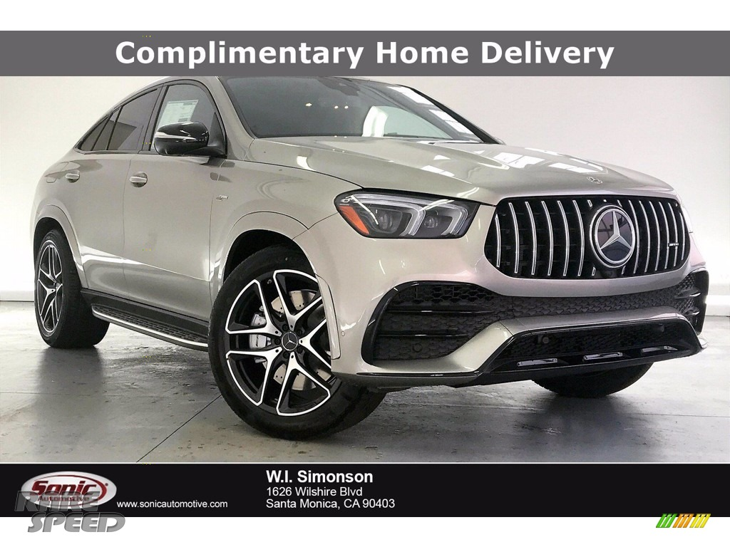 Mojave Silver Metallic / Black Mercedes-Benz GLE 53 AMG 4Matic Coupe