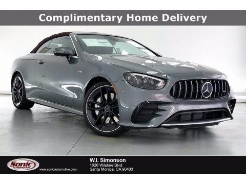 Selenite Gray Metallic 2021 Mercedes-Benz E 53 AMG 4Matic Cabriolet