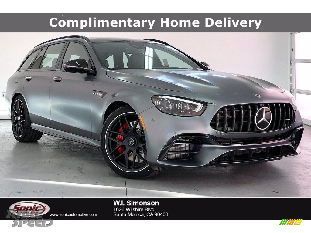 designo Selenite Grey Magno (Matte) / Titanium Grey/Black Mercedes-Benz E 63 AMG 4Matic Wagon
