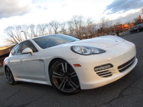 Carrara White 2013 Porsche Panamera Platinum Edition