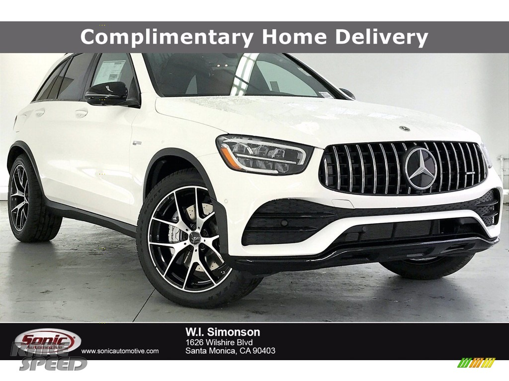 Polar White / Cranberry Red/Black Mercedes-Benz GLC AMG 43 4Matic