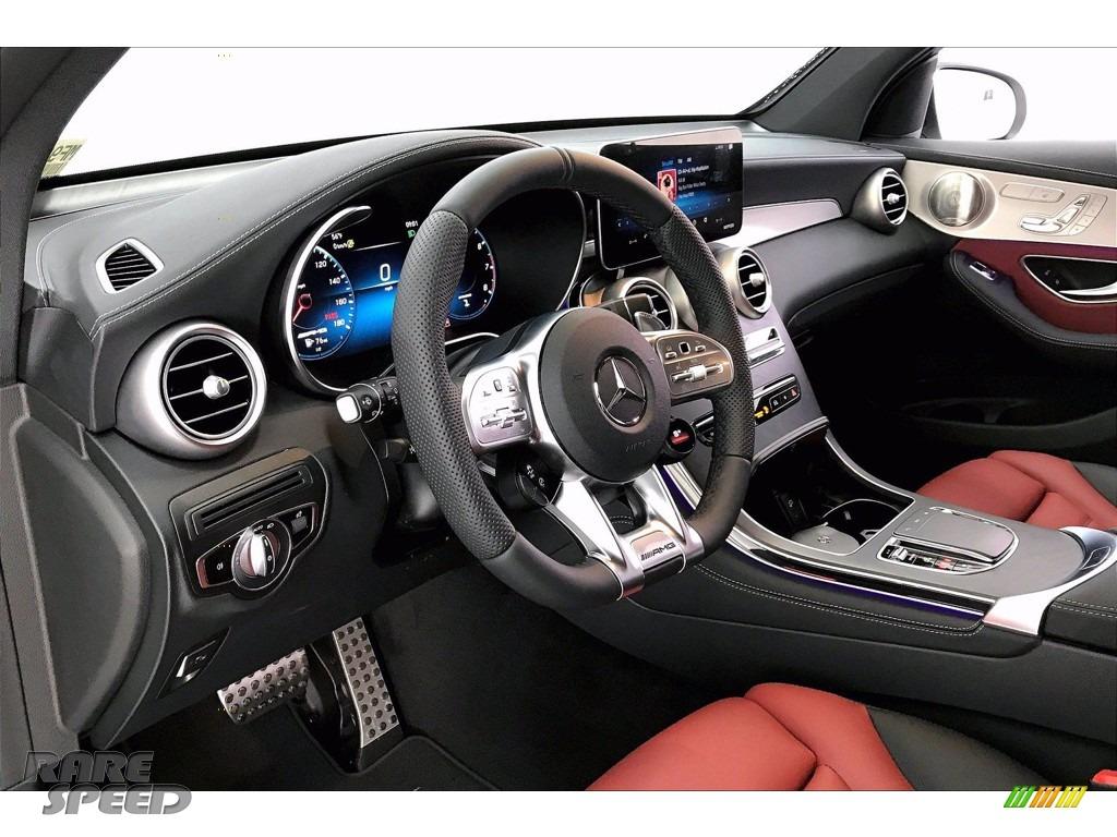 2021 GLC AMG 43 4Matic - Polar White / Cranberry Red/Black photo #4