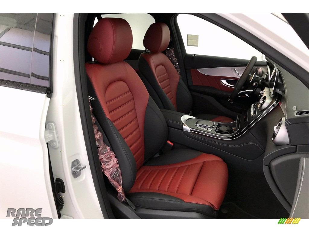 2021 GLC AMG 43 4Matic - Polar White / Cranberry Red/Black photo #5