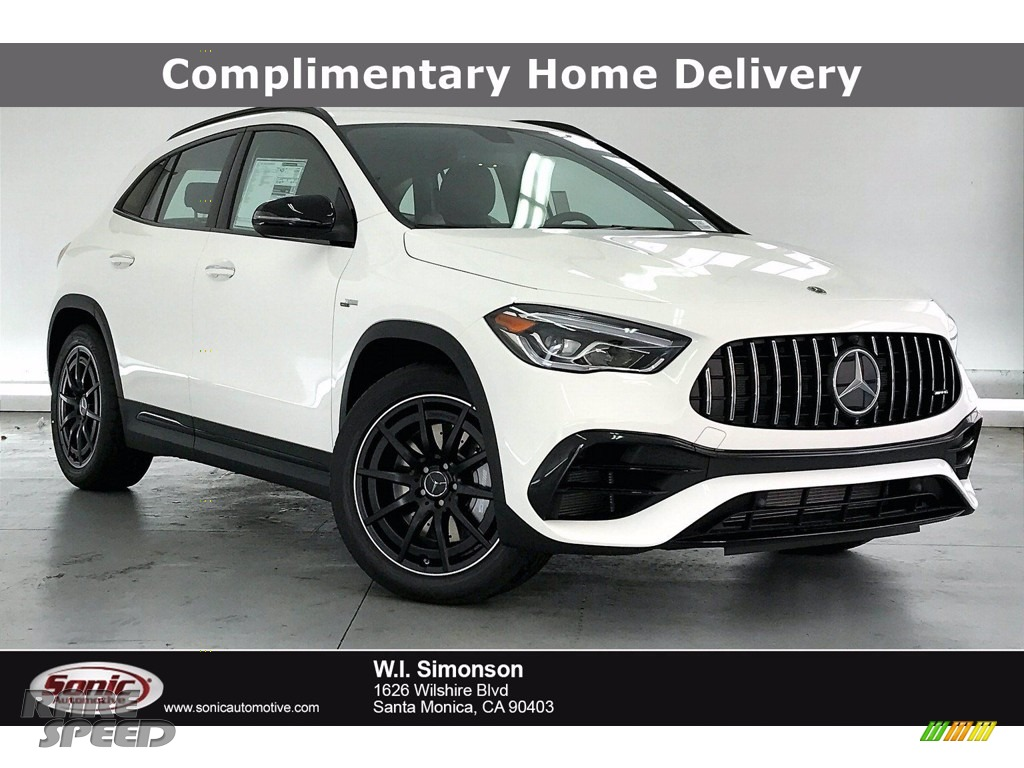 Polar White / Neva Grey/Black Mercedes-Benz GLA AMG 45 4Matic