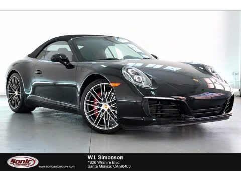 Black 2018 Porsche 911 Carrera S Cabriolet
