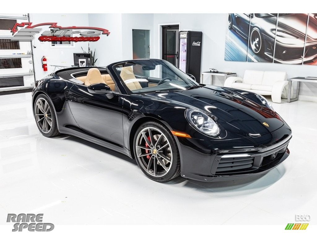 2020 911 Carrera S - Black / Black/Mojave Beige photo #1