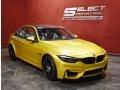 BMW M3 Sedan Austin Yellow Metallic photo #3
