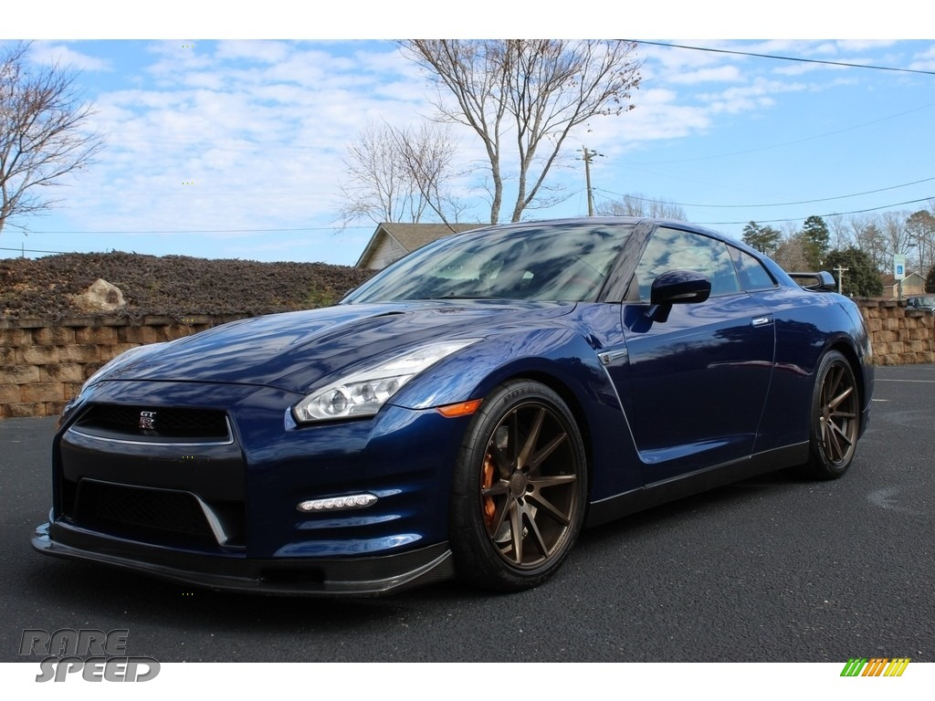 2015 GT-R Premium - Deep Blue Pearl / Black photo #1