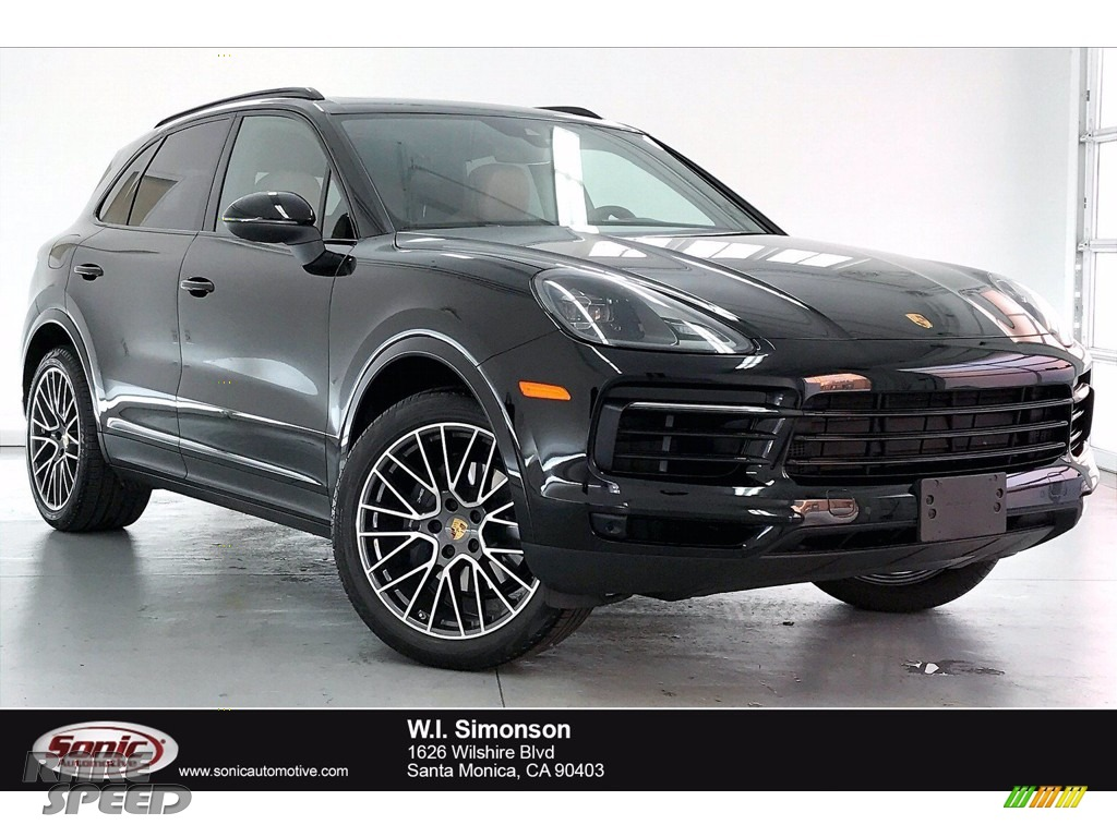 2020 Cayenne  - Jet Black Metallic / Black/Mojave Beige photo #1