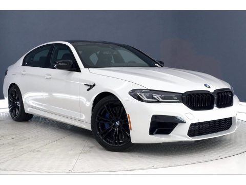 Alpine White 2021 BMW M5 Sedan