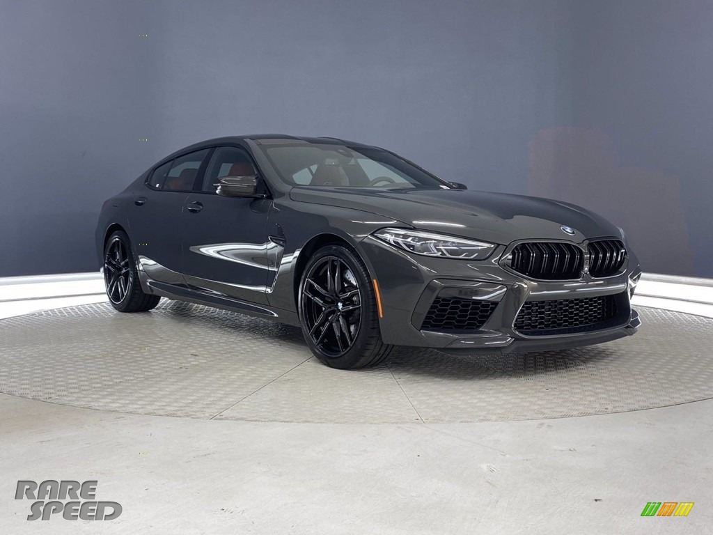 2021 M8 Gran Coupe - Individual Dravit Gray Metallic / Sakhir Orange/Black photo #1