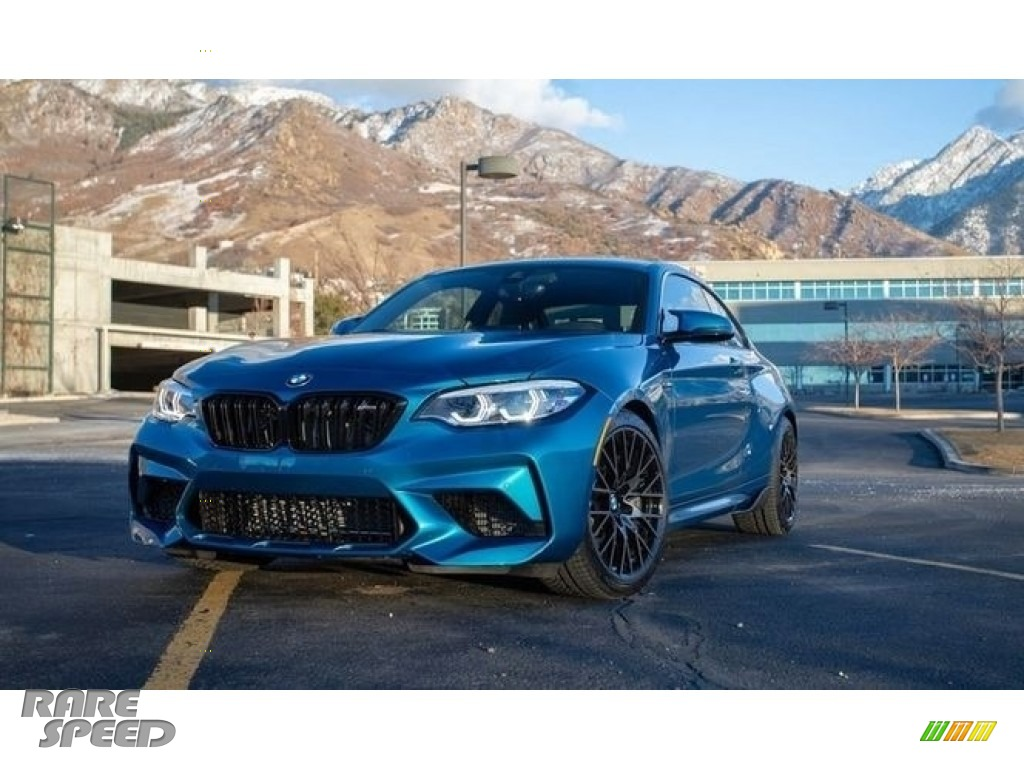2020 M2 Competition Coupe - Long Beach Blue Metallic / Black photo #1