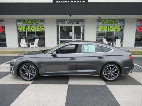 Daytona Gray Pearl Effect 2021 Audi A5 Sportback Premium Plus quattro