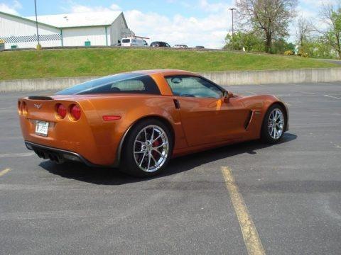 Atomic Orange Metallic 2009 Chevrolet Corvette Z06