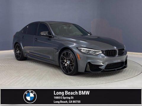 Mineral Grey Metallic 2018 BMW M3 Sedan