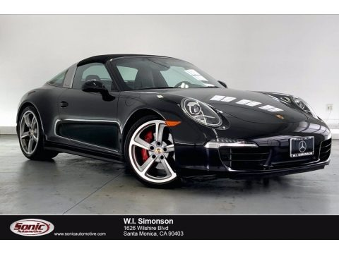 Black 2014 Porsche 911 Targa 4S