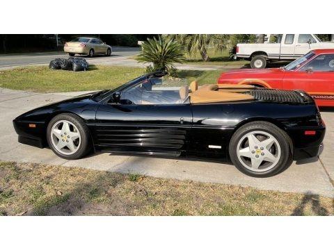 Black 1994 Ferrari 348 Spider