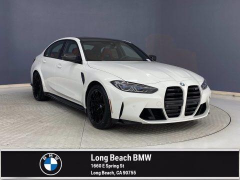 Alpine White 2022 BMW M3 Competition Sedan