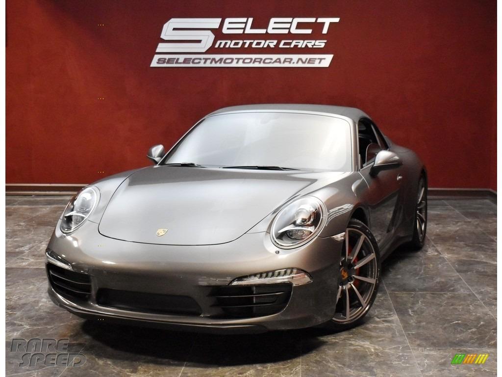 2013 911 Carrera 4S Cabriolet - Agate Grey Metallic / Black photo #1
