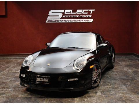 Black 2007 Porsche 911 Turbo Coupe