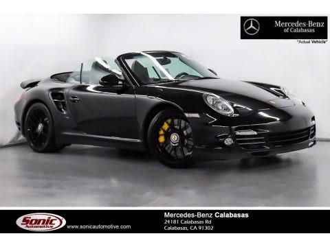 Black 2013 Porsche 911 Turbo S Cabriolet