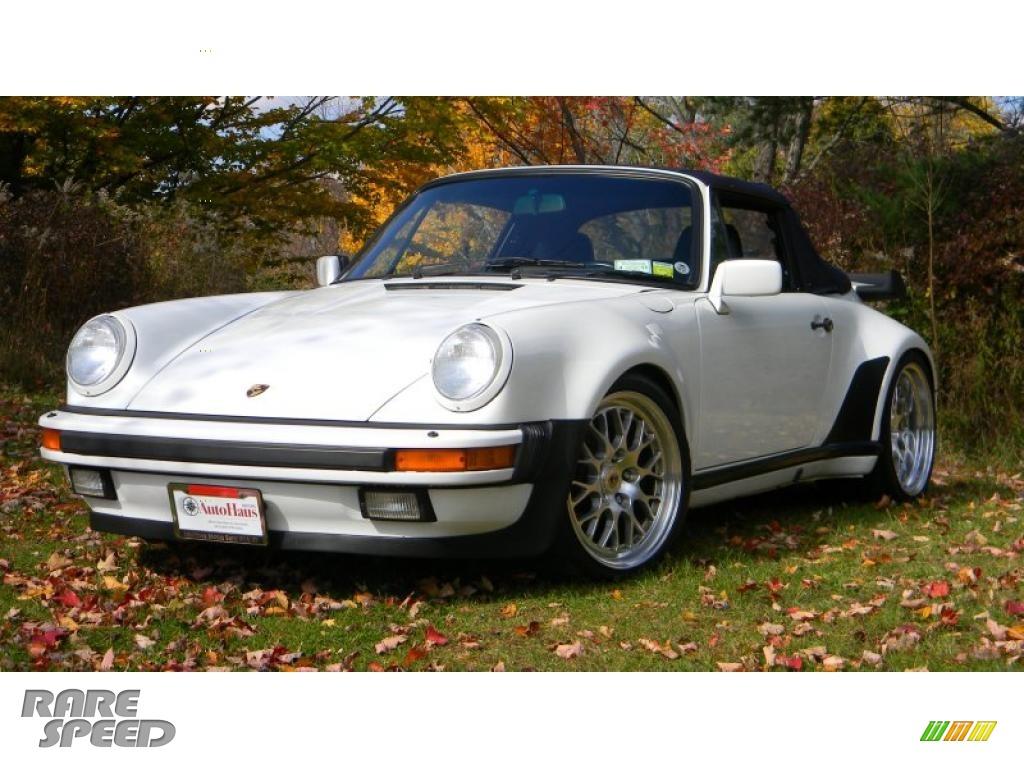 1988 porsche 911 turbo cabriolet in grand prix white 070244. Black Bedroom Furniture Sets. Home Design Ideas