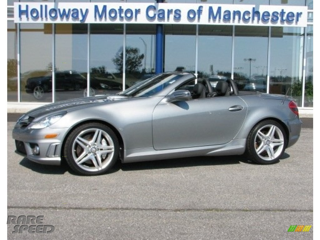 2010 mercedes benz slk 55 amg roadster in palladium silver for Holloway motor cars manchester