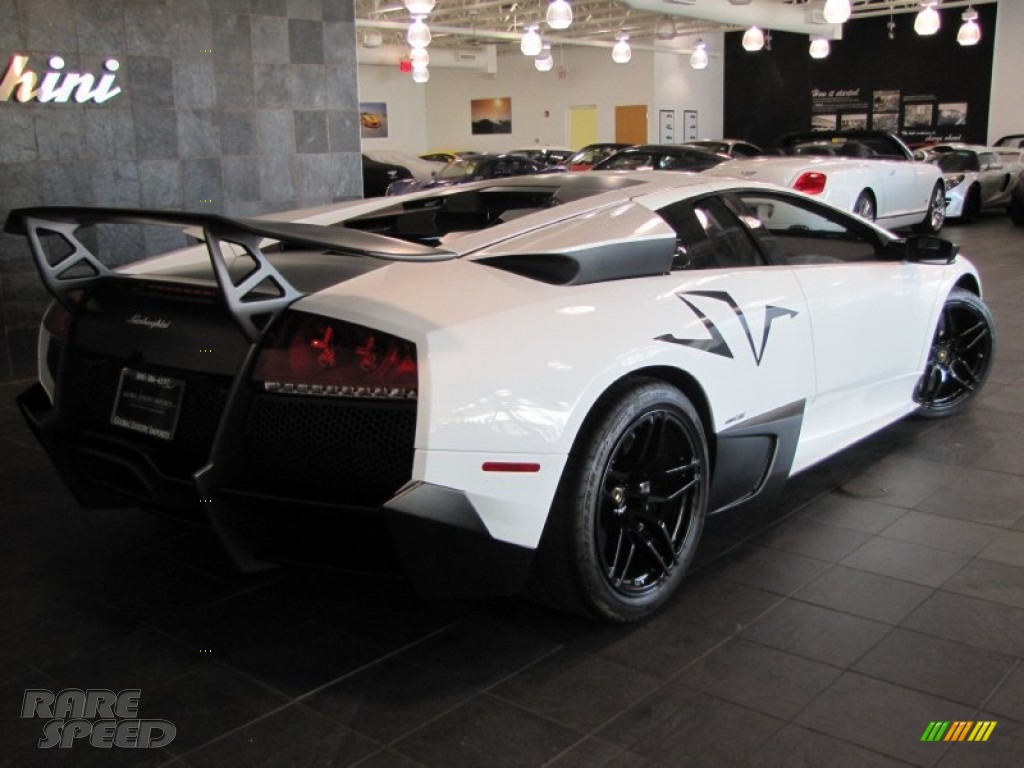 2010 Lamborghini Murcielago Lp670 4 Sv In Bianco Isis White Photo