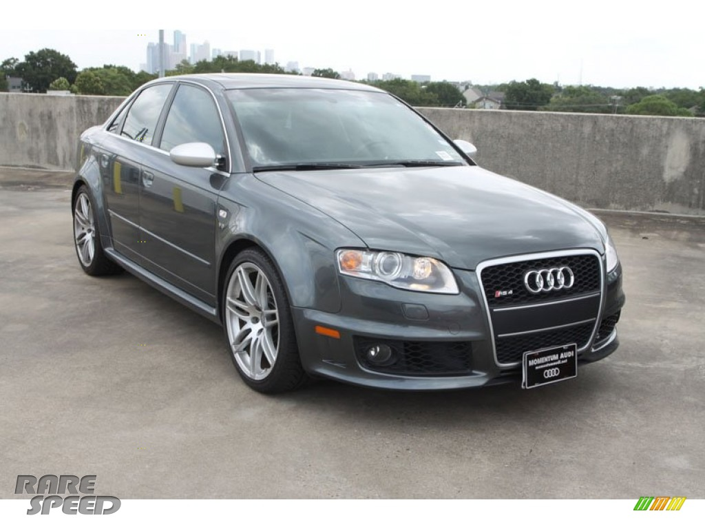 2007 Audi RS4 4.2 quattro Sedan in Daytona Grey Pearl Effect - 904969 | RareSpeed.com