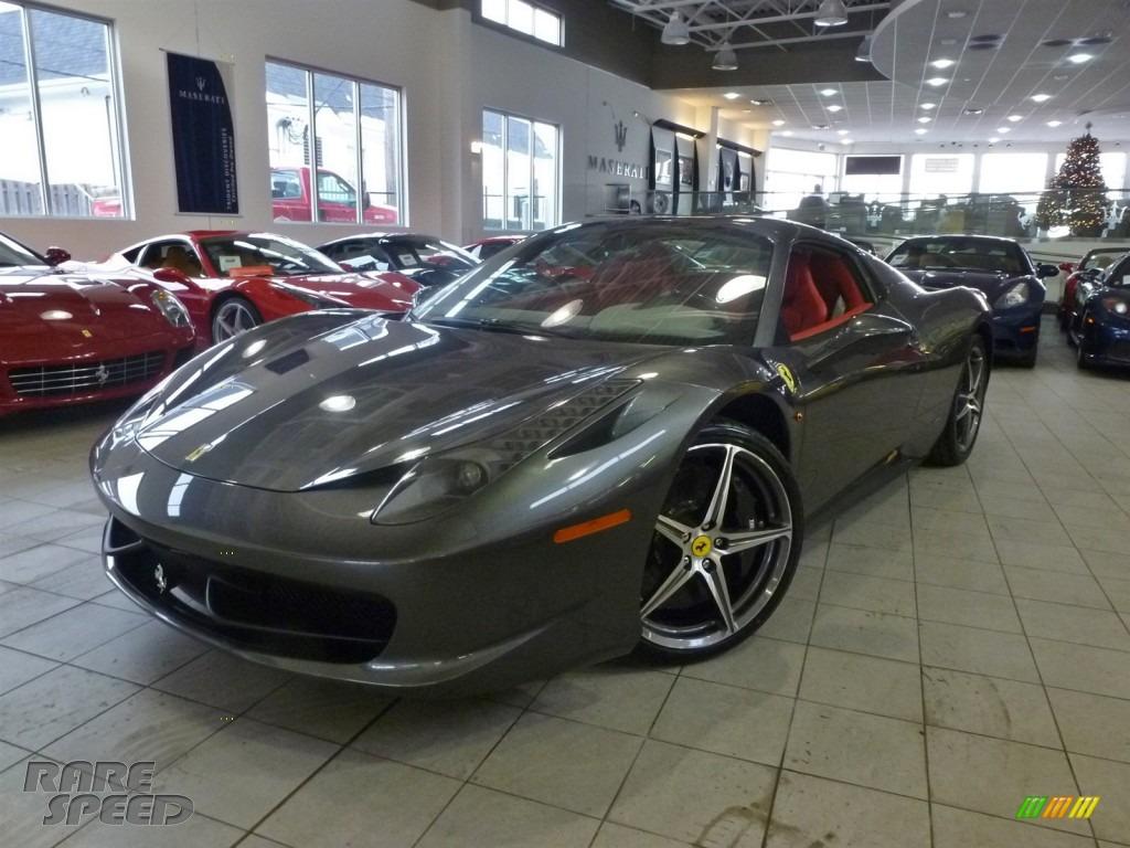 2014 Ferrari 458 Spider In Grigio Silverstone Dark Grey