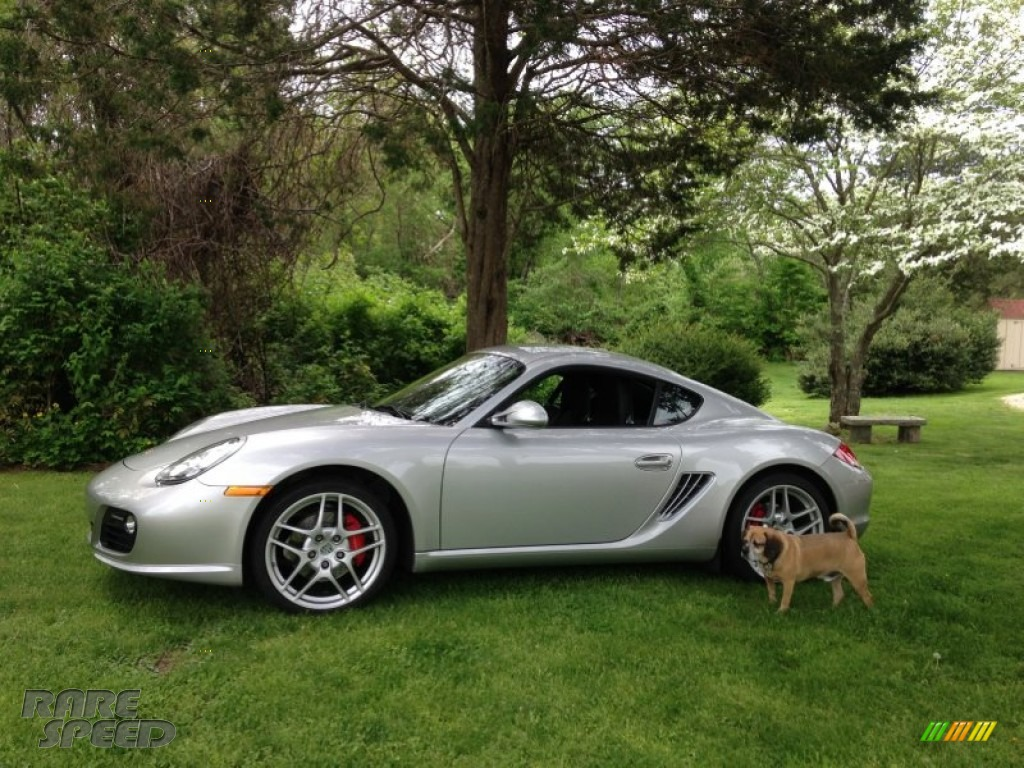 2009 Cayman S - Arctic Silver Metallic / Black photo #1