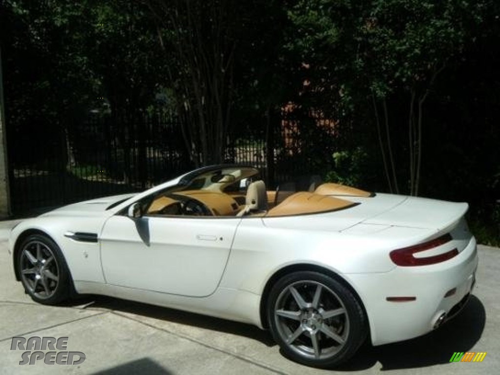 2008 V8 Vantage Roadster - Stratus White / Sahara Tan photo #1