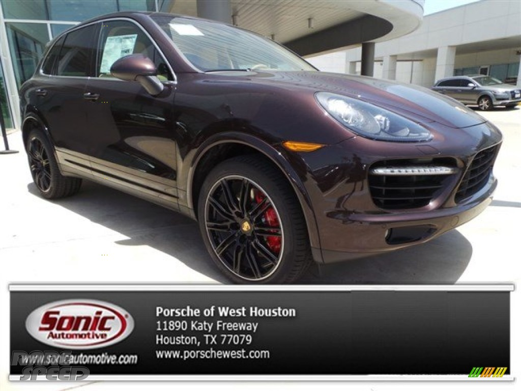 2014 Porsche Cayenne Turbo In Mahogany Metallic A81203